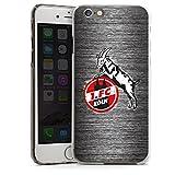 DeinDesign Apple iPhone 6 Hülle Case Handyhülle 1. FC Köln Metall Look Fussball
