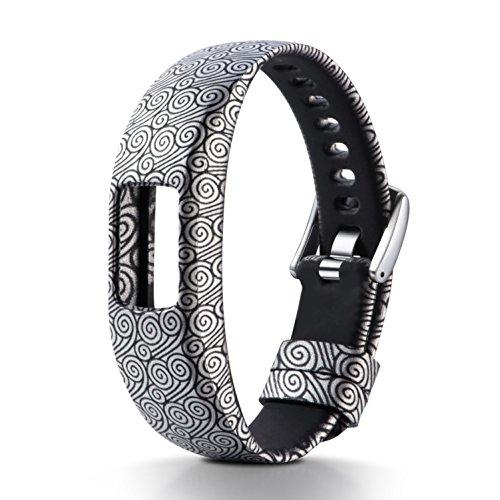 für Garmin Vivofit 4, Muster Bedrucktes Weiches Silikon Sport Armbanduhr Band Ersatz-Armband Armband für Garmin Vivofit 4Smart Watch M N ()