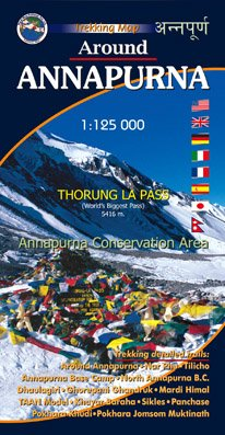 Around Annapurna 1:125000-Nepal map por Vajra Books