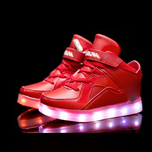 BOOWJESSEA , Mädchen Sneaker rot