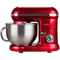 Cookmii Robot Pâtissier ,Robot Petrin, Robot Cuisine avec Bol 5.5L Max 1090W (Rouge)