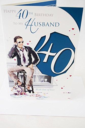 Happy 40th Birthday Mann Karte Elegante Herren Lovely Vers Male Herren ab 40Karte