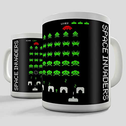 Space Invaders Retro Gift Mug - Low Price!