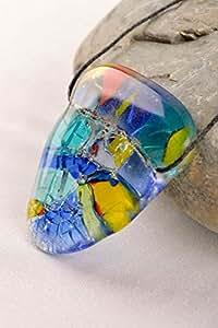 Handmade pendentif en verre en verre à fusing accessoire pour femmes