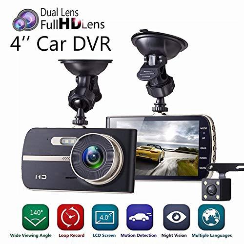 Altsommer 4inch Autokamera HD 1080P Kamera,WiFi mit 140 ° Weitwinkelobjektiv,Notfallaufzeichnungsfunktion,Auto-DVR mit Rückwärts/Einparkhilfe, Bewegungserkennung (A)