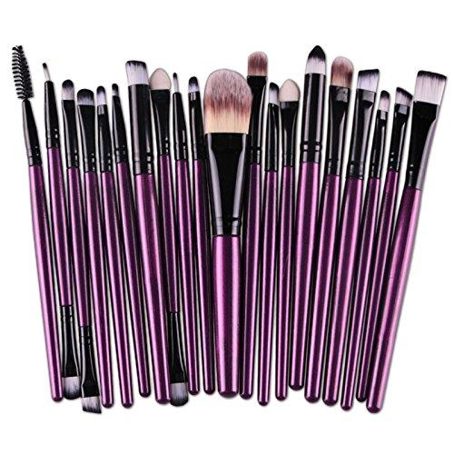 20 pcs/lot Maquillage Brosse de fard à paupières sourcils lèvres Eyeliner Brosse de Poudre Visage Pinceaux de maquillage