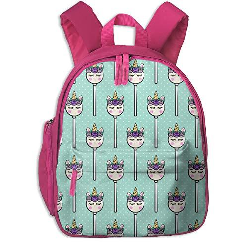Kinderrucksack mädchen,Unicorn Cake Pops - Light Teal Polka Dots (lila) _3896 - littlearrowdesign, Für Kinderschulen Oxfordstoff (pink) (Batman Cake Pops)