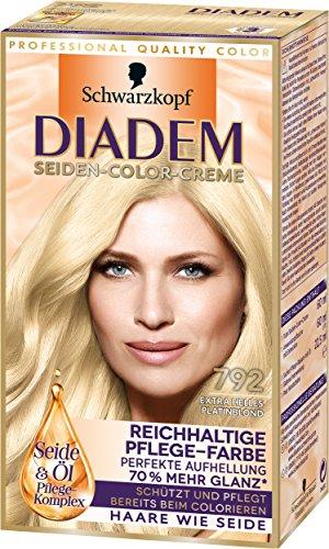 Diadem Seiden-Color-Cremem, 792 extra helles Platinblond, 3er Pack (3 x 142 ml)
