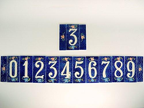 Numeri civici in ceramica piastrella ceramica mattonella numero