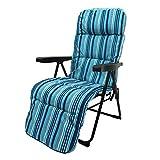 Sillón Plegable Acolchado de Camping o Playa Azul de Acero Garden - LOLAhome