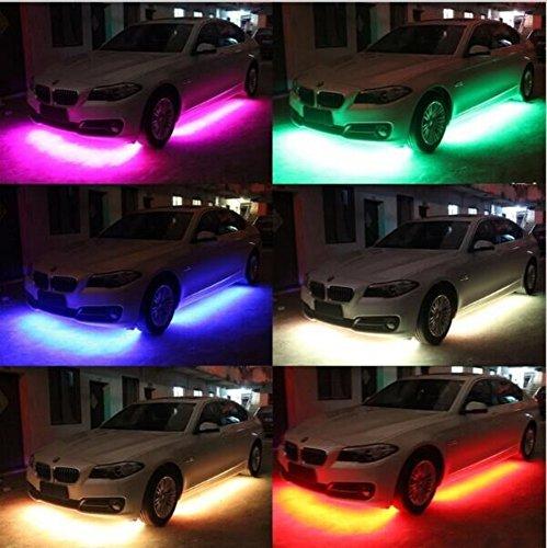 Preisvergleich Produktbild mfpower 4RGB LED Auto Dekoration Strip Wasserdicht Light Neon Light Kit Wireless Control