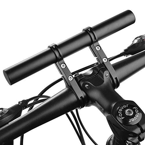 Micovay Fahrrad Extender Halterung Taschenlampe Halter Lenker, 20.2cm Aluminiumlegierung Extension Mount Halter Space Saver mit Doppelklemmen, Halterung für Fahrrad LED-Licht, GPS, Telefon, Tacho -