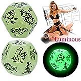 Reasoncool Sexspielzeug für Erwachsene,Beautiful Luminous Posture Dice Fetisch Sex Toys Romantik Erotik Craps