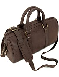 LEABAGS Medora sac cabas rétro-vintage en véritable cuir de buffle