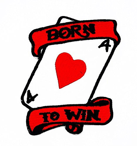 (rabana Born to Win Poker Ace Jack Glücksspiel, Karte Casino Las Vegas Cartoon Kids Kinder Cute Animal Patch für Heimwerker-Applikation Eisen auf Patch T Shirt Patch Sew Iron on gesticktes Badge Schild Kostüm)