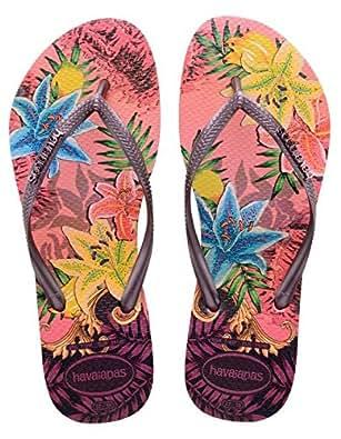 Havaianas Slim Tropical, Damen Flip Flops, Rosa (Rose 2528), 35/36 EU (33/34 Brazilian)