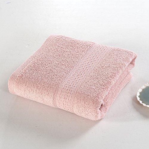 12 Farben wahlweise freigestelltes minimalistisches neinfarbenes reines Farbenbadtuchbaumwolle erwachsenes superabsorbierendes Nichthaarbadtuchmänner und -frauen, hellbeige Rosa