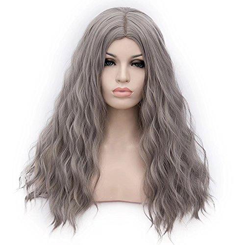 zebeständig Lolita Mode Harajuku Cosplay Wig Perücke + Perücke-Kappe (Grau) (Harajuku Perücke)