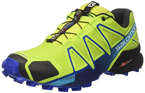 Salomon Herren Speedcross 4 Schuhe, Grün (Lime Green/Nautical Blue/Hawaiian Ocean 6), 44 2/3 EU