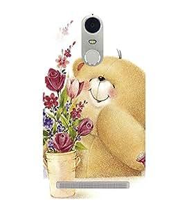Cute Bear 3D Hard Polycarbonate Designer Back Case Cover for Lenovo K5 Note :: Lenovo Vibe K5 Note Pro