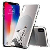 FHHICCGHF iPhone X Coque, [transparente] Coque arrière en silicone résistante aux...