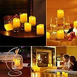 ORIA LED Kerzen mit Timerfunktion, 9 Flammenlose Kerzen Elektrische Teelichter mit Fernbedienun, Batterie & 3 Modi, Romantische Kerzen Teelicht für Weihnachten, Hochzeit, Partys, usw - 5