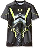 Under Armour Jungen Fitness T-Shirt Alter Ego Warrior Full Suit, Black, L