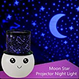 Aeeque® LED Night Light, Baby Children Wake Up Night Lights Projector Relax Sleeping Romantic Sky Moon Star Lamp for Baby Kids Room - Blue