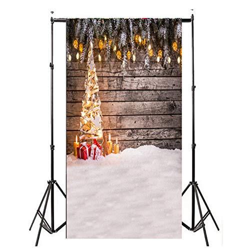 EisEyen Weihnachten Fotografie Fotohintergrund Hintergrund Newborn Weihnachtsfoto Hintergrund für Fotostudio Weihnachtsfeier Christmas Photoshooting Backdrop 90 * 150cm Stoff