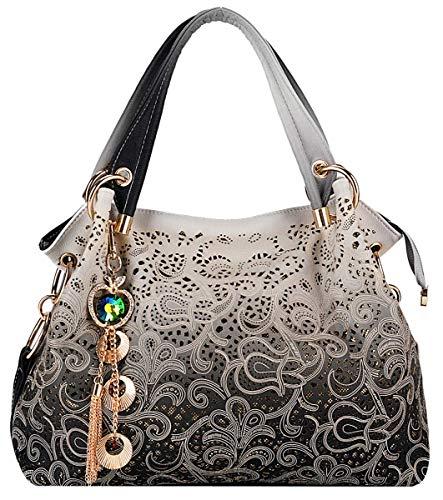 Coofit Damen Handtasche Umhängetasche Mode Tasche Jahrgang Schultertasche Geldbörse für Frauen