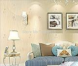 HNZZN Modernes, minimalistisches Romantische kleine Blumengarten gewebte Wallpaper Wallpaper Gepflasterte gemütliches Schlafzimmer Wohnzimmer