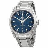 Omega Omega Aqua Terra Azul Dial Acero inoxidable Acero Mens Reloj