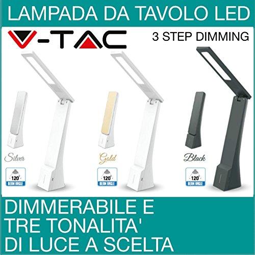 Lampe de table à lED dimmable lampe de bureau avec bras pliable