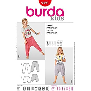 Burda Children\'s Easy Sewing Pattern 9493 - Harem Pants Ages: 4-10 ...