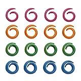 LIOOBO 50 Piezas de Bobina de Hilo de Silicona Huggers Huggers Huggers - Organizador de Bobina de Hilo de Coser (Colores Mezclados)