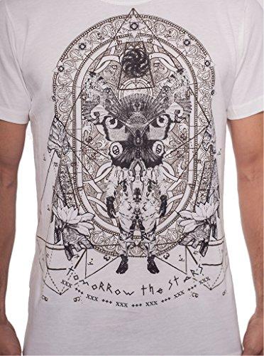 Herren T-Shirt mit Tomorrow the Stars Aufdruck - handgefertigt durch Siebdruck auf 100% Baumwolle - Street Habit Weiß