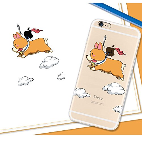 XFAYiphone 6plus Neue Modelle iPhone 6plus/iphone 6splus Hülle TPU Silikon Schutz Handy Hülle Case [Scratch-Resistant Niedliche Cartoon Malerei ] Ultra Slim Case Schutzhülle Case Cover für iPhone 6plu HXP-10