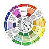 perfk Colore Cerchio Colorato per la Guida di Miscelazione 23,5 cm