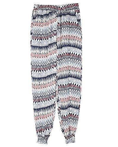 Pantalone Donna con Coulisse alle Caviglie Pantaloni Sportivi In Colorato Motivo In Fiori Con Elastico 3
