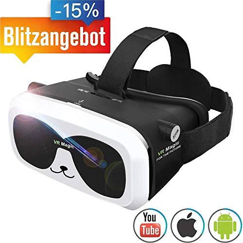 464e8cc56a 3d virtual Reality Gafas VR auricular para películas 3d Juegos focal  ajustable compatible con iOS Android