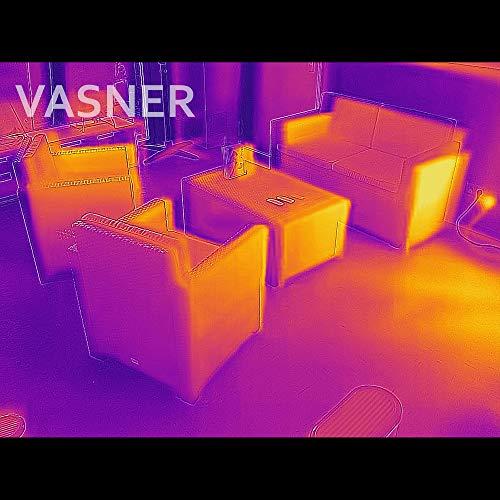VASNER StandLine 25R Infrarot Stand-Heizstrahler – weiß – 2500 Watt, Terrassenstrahler elektrisch - 7