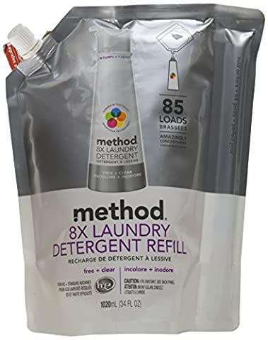 Method Lemon Mint Washing-Up Liquid Refill, 1064 ml (Pack of 6)