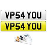 PREMIUM Pair of PLAIN UK Road Legal MOT Compliant Number Plates For Cars Vans Trailers - Fixing Kit Included