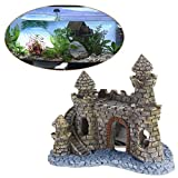 dairyshop olyresin Castle Tower Aquarium Ornament Fisch Tank Dekoration Zubehör