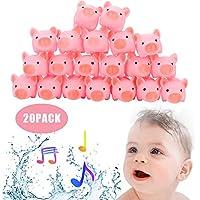 TianranRT Piglet Bath Toy 20PCS Juguete de vinilo de seguridad Teether Rubber Baby Baby Toy Toy