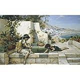 """Los niños en la terraza, William Stephen Coleman, Papel artístico satinado de 255 g/m², Image size: 432mm x 692mm (17"""" x 27.25"""")"""