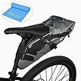 Roswheel 840D TPU 7L 100% impermeable Bolsa de sillín alforja para bicicleta Bicicletas Bolsa Bolsa para sillin de bici(Cinta reflectante material, Apertura plegable) (7L 100% impermeable)