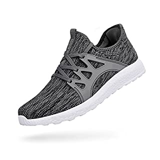 ZOCAVIA Herren Sportschuhe Laufschuhe Sneaker Atmungsaktiv Leichte Wanderschuhe