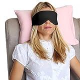 Happyluxe Sfuggire il sonno maschera mascherina di occhio, ottimo per dormire, voli, viaggi Jet Black