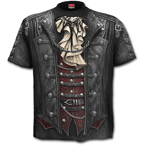 "Camiseta de manga corta ""Goth Wrap"" de Spiral Direct (Negro) - L"